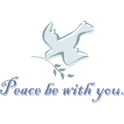 Image result for peace be with you clip art